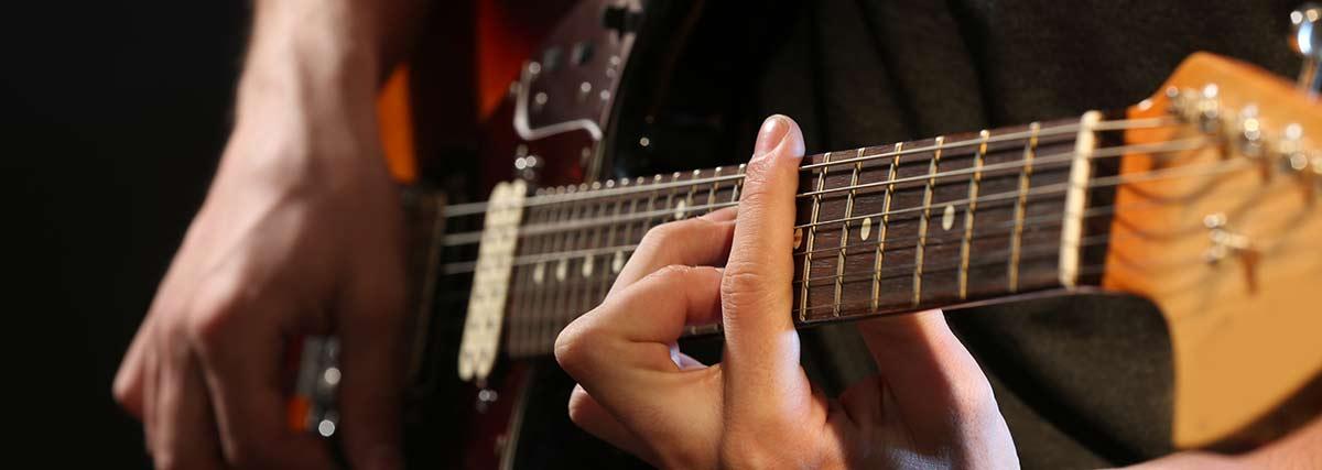 Close up electric guitar