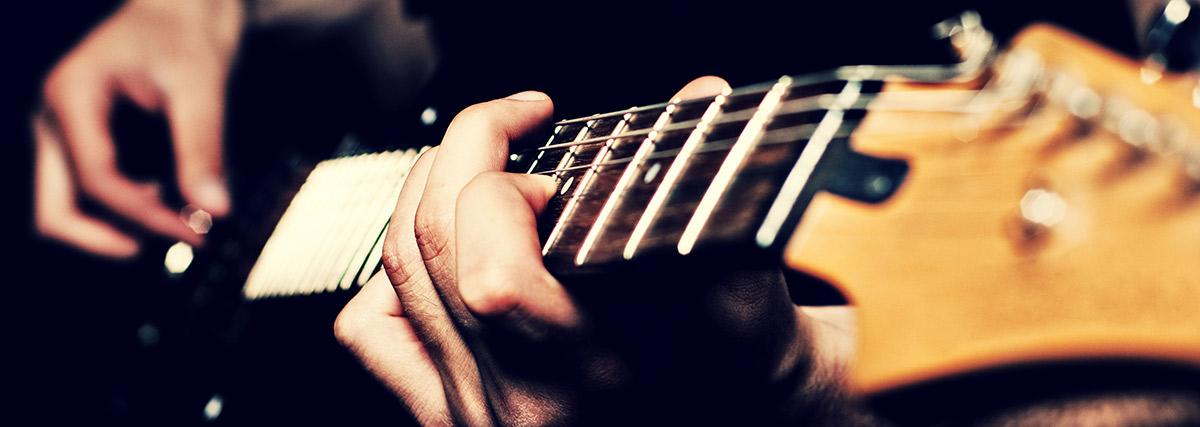 Hands on guitar